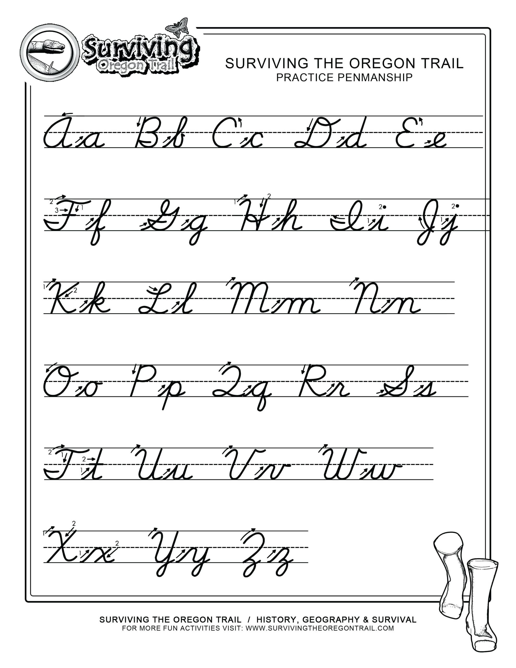Handwriting Worksheet Cursive Maker | Printable Worksheets