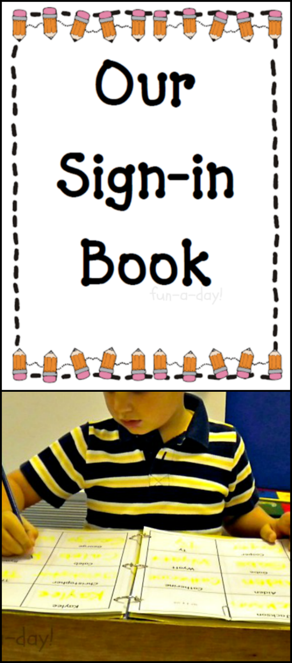 How To Make A Book With Free Printable Preschool Sign In