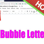 How To Make Bubble Letters In Google Docs