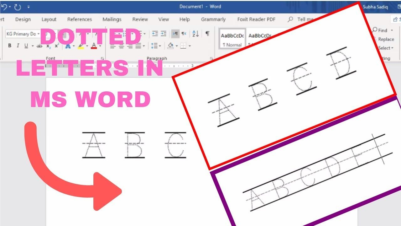 How To Make Dotted Letters In Microsoft Word | Dotted Letter