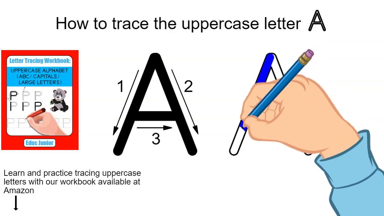 How To Trace The Uppercase Letter A