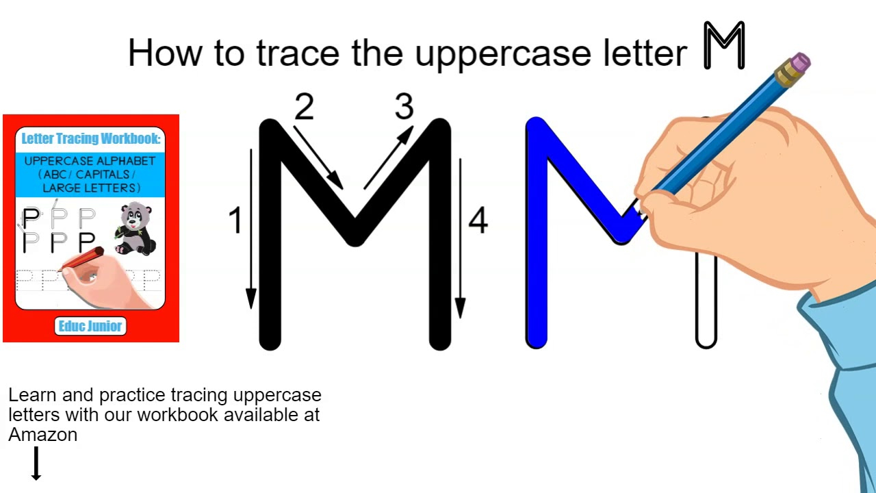 How To Trace The Uppercase Letter M