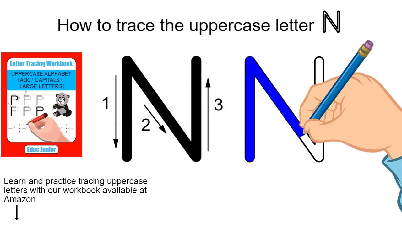 How To Trace The Uppercase Letter N