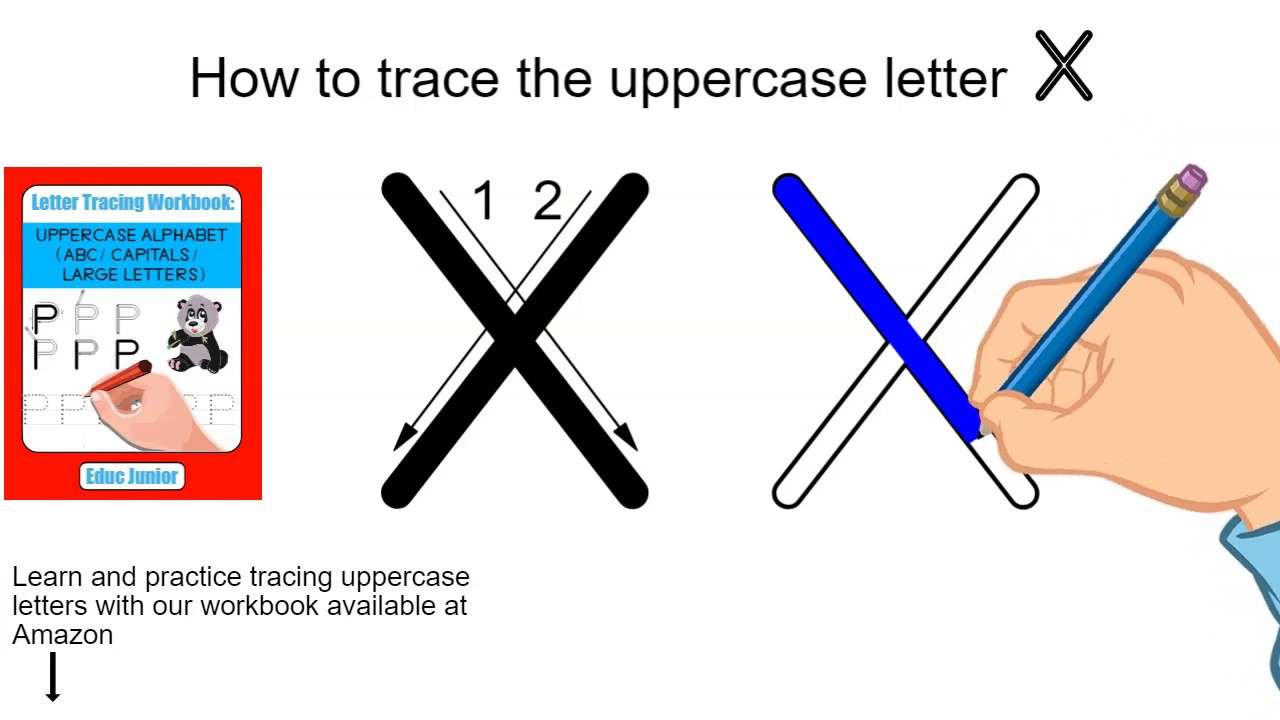 How To Trace The Uppercase Letter X