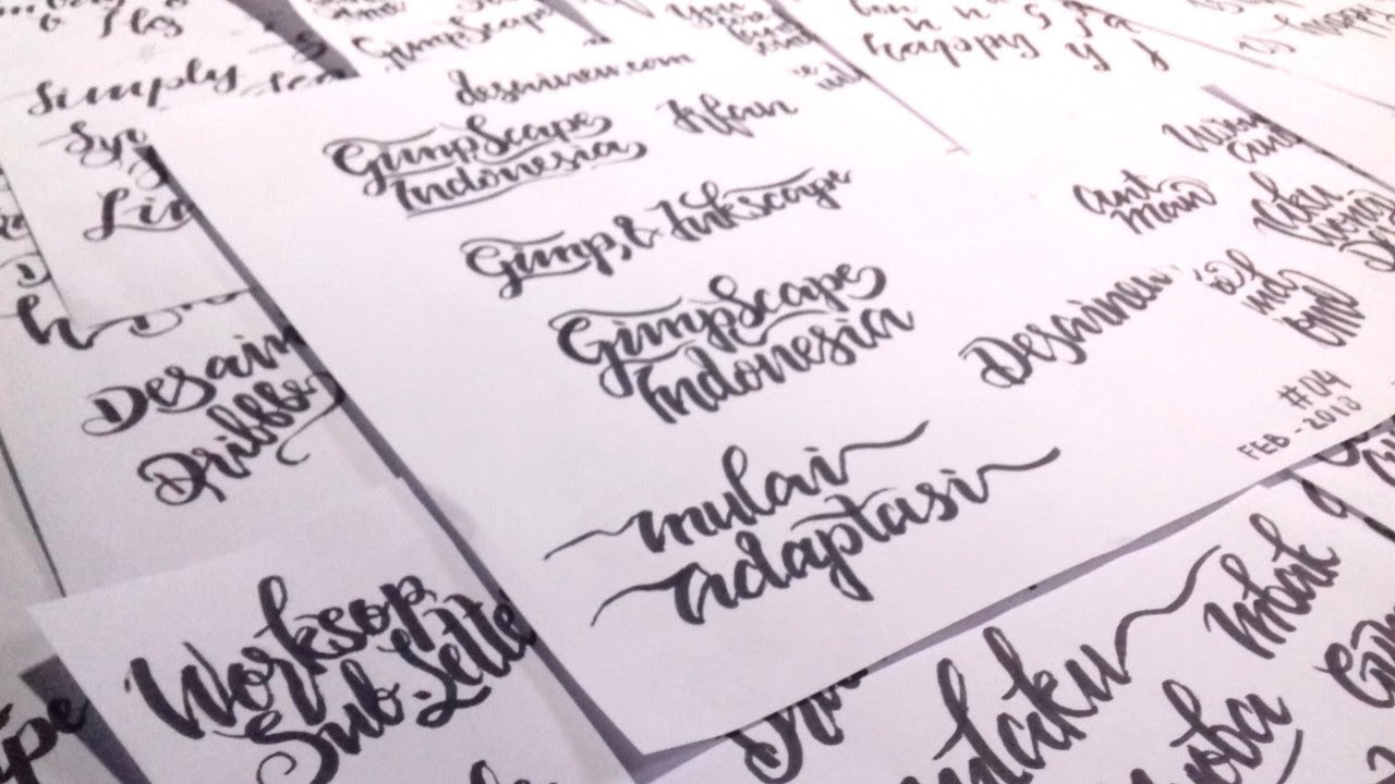 How To Tracing Hand Lettering In Inkscape