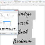 How To Use Opentype Fonts In Microsoft Word