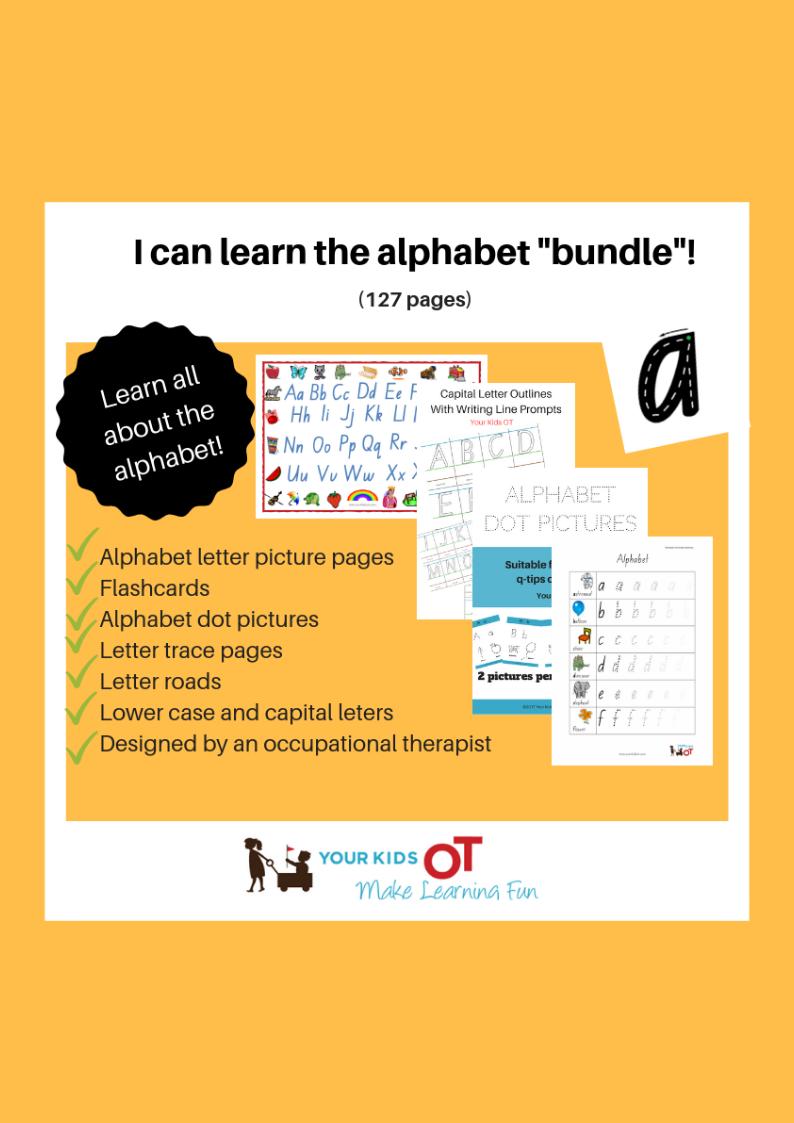 "I Can Learn The Alphabet ""bundle""!"