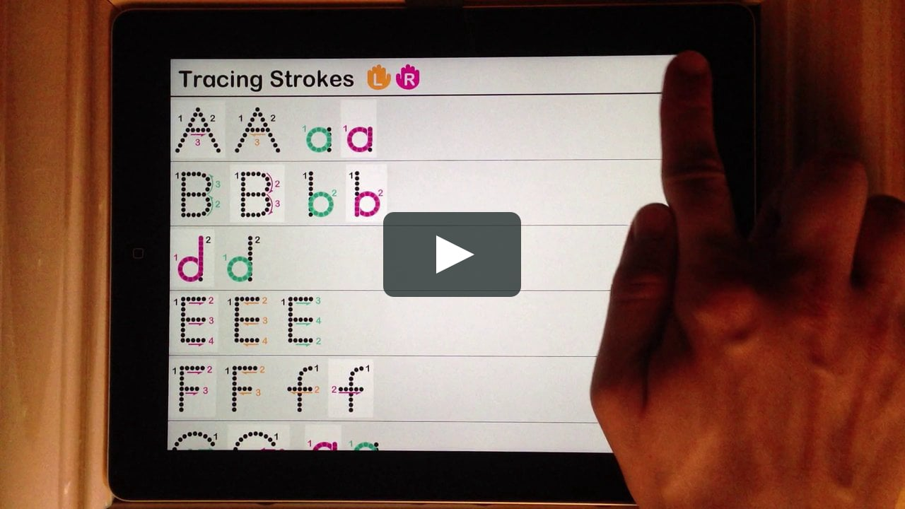 Interactive Alphabet - Tracing A Lower A With A Continuous Stroke