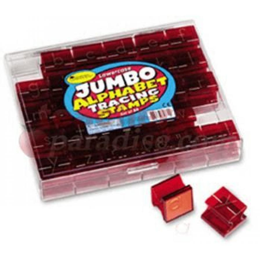 Jumbo Tracing Stamps Lowercase Alphabet & Punctuation