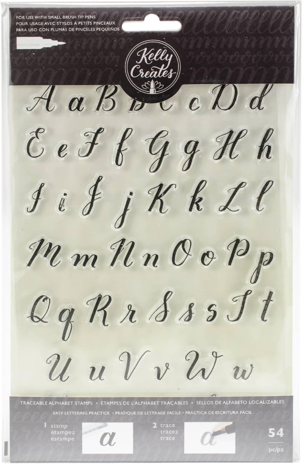 Kelly Creates Acrylic Traceable Stamps-Alphabet - Walmart