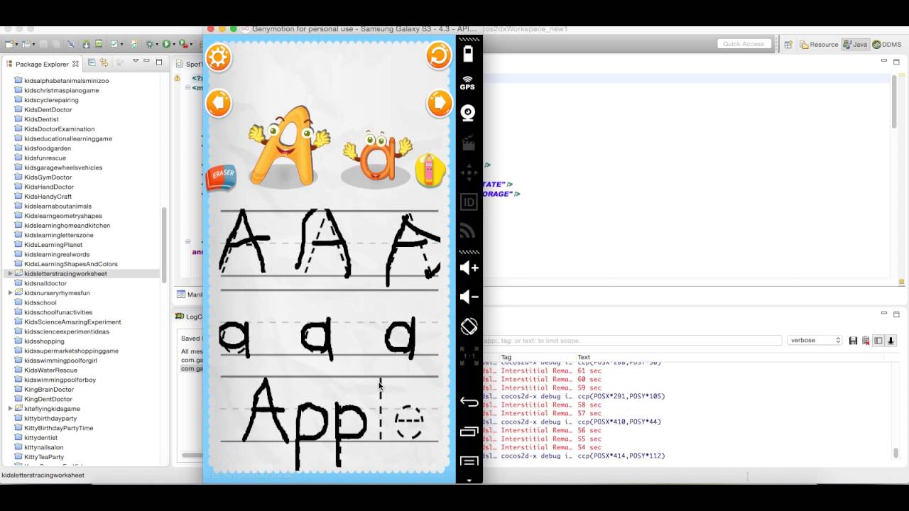 Kids Letters Tracing Worksheet - Source Code Videosell