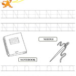 Kids Under 7: Alphabet Worksheets.trace And Print Letter N