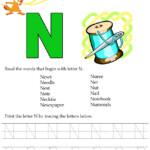 Kids Under 7: Alphabet Worksheets.trace And Print Letter N