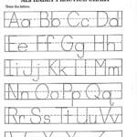 Kindergarten Alphabet Worksheets To Print | Printable