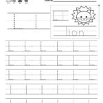 Kindergarten Letter L Writing Practice Worksheet. This