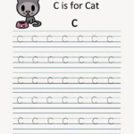 Kindergarten Worksheets: Alphabet Tracing Worksheets - C