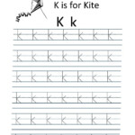 Kindergarten Worksheets: Alphabet Tracing Worksheets - K