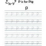 Kindergarten Worksheets: Alphabet Tracing Worksheets - P