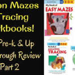 Kumon Mazes & Tracing Workbooks For Pre-K & Up: Flip Through Review (Part 2)