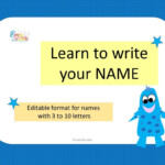 Learn To Write Your Name, Editable Format For Name Tracing