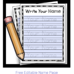Learn To Write Your Name - Freebie (With Images) | Learning