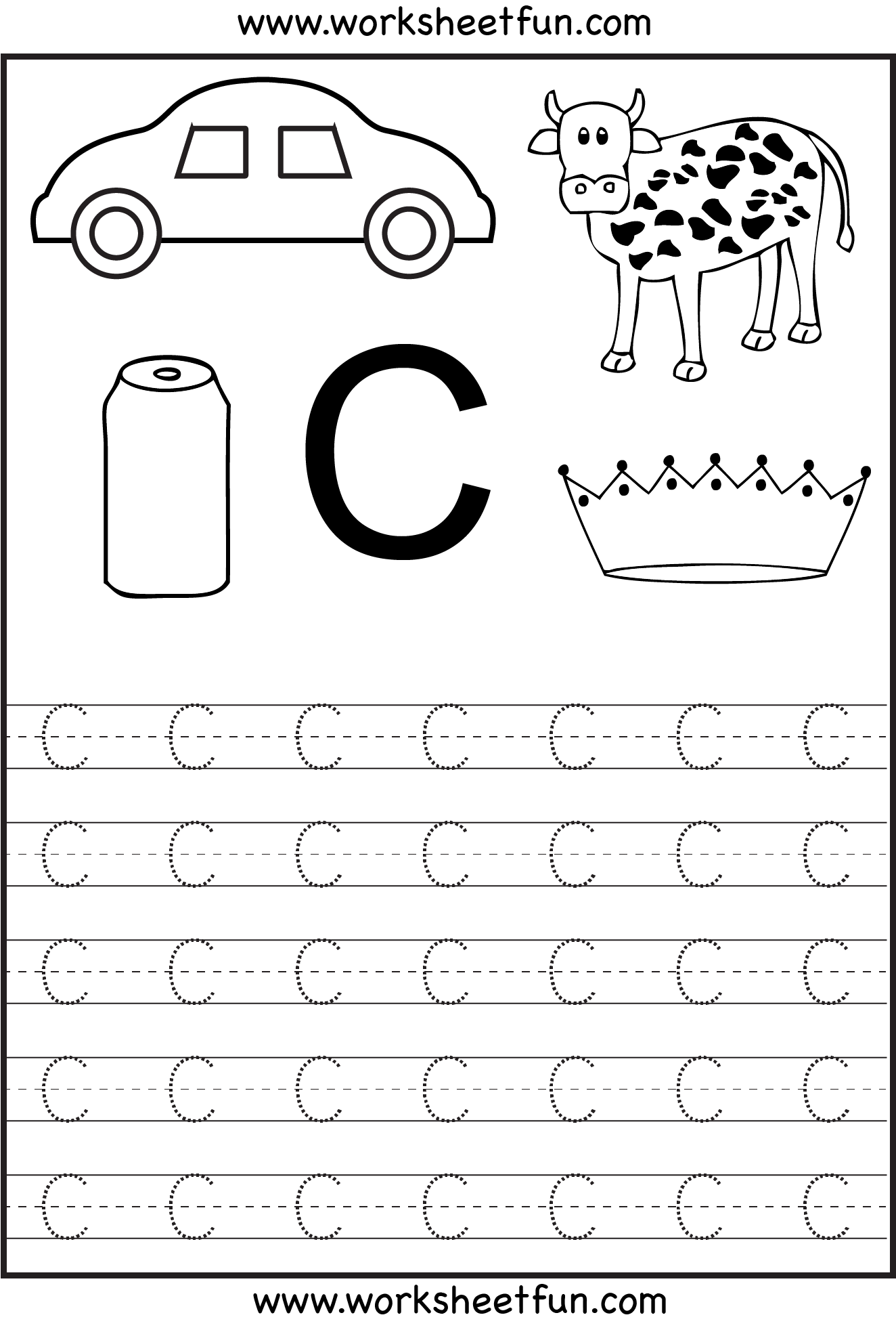 Learning The Letter C | Worksheet | Education | Learning