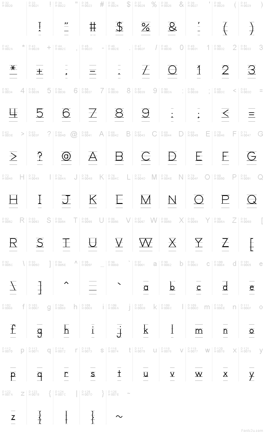 Lets Trace Ruled Font