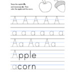 Letter A Worksheet – Tracing And Handwriting