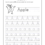 Letter A Worksheets For Kindergarten – Trace Dotted Letters