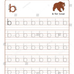 Letter B Alphabet Tracing Book Example Arkivvektor