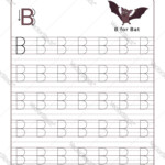 Letter B Alphabet Tracing Book With Example And