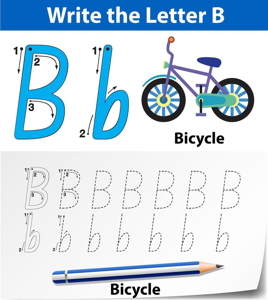 Letter B Tracing Alphabet Worksheets - Download Free Vectors