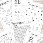 Letter B Worksheets - Alphabet Series - Easy Peasy Learners