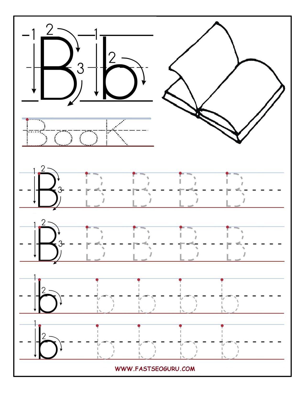 Letter B Worksheets For Preschoolers | Printable Letter B