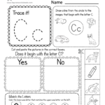 Letter C Worksheets And Activities Coloring Pages For Kids