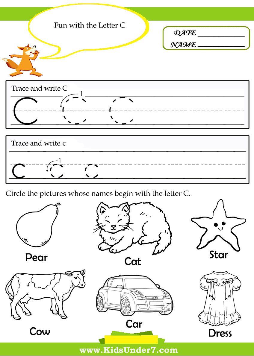Letter C Worksheets For Preschool - Google Search | Letter