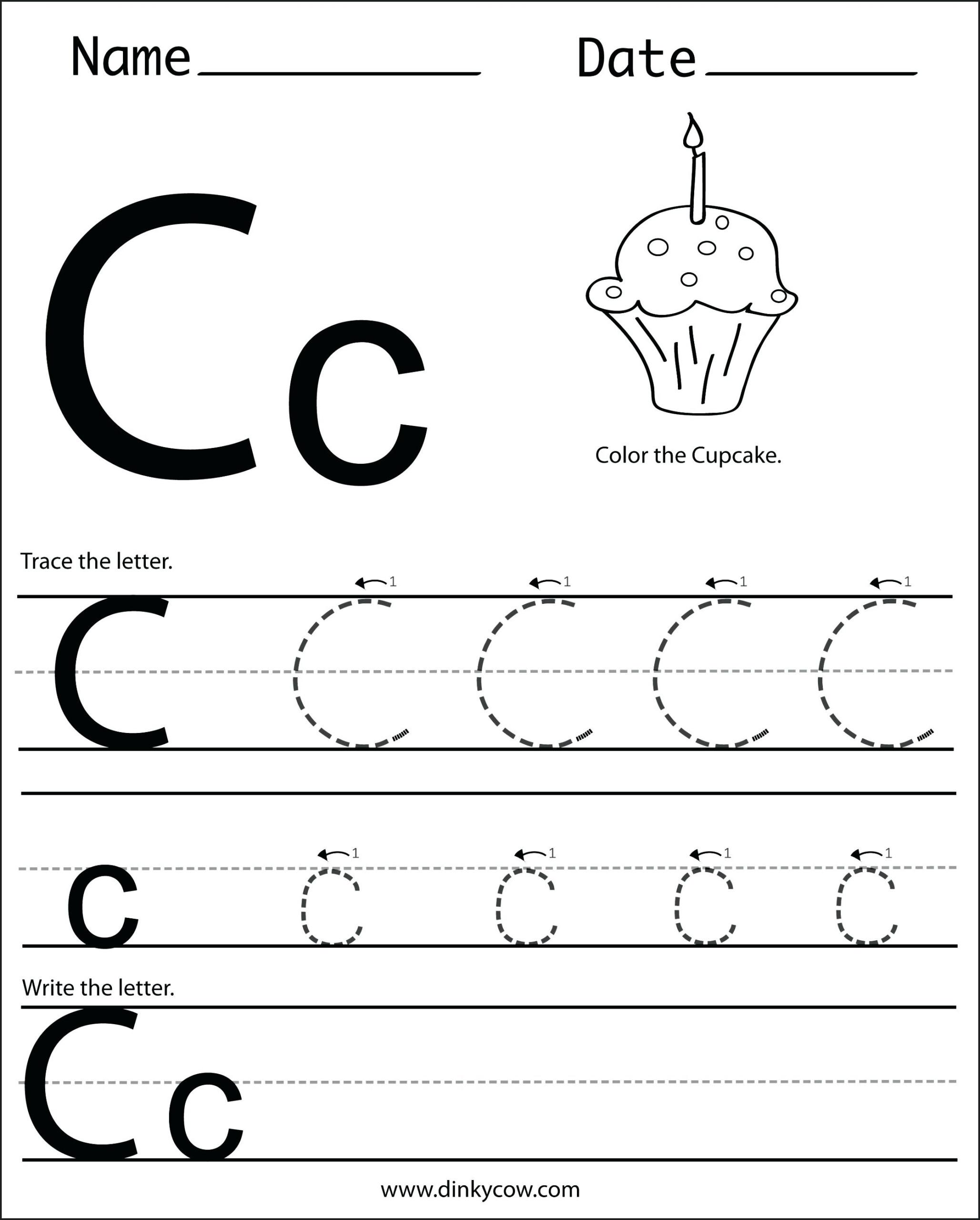 Letter C Worksheets For Preschool Worksheets Letter G