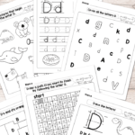 Letter D Worksheets - Alphabet Series - Easy Peasy Learners