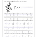 Letter D Worksheets For Kindergarten – Trace Dotted Letters