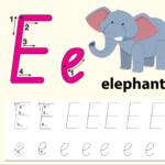Letter E Tracing Alphabet Worksheets - Download Free Vectors