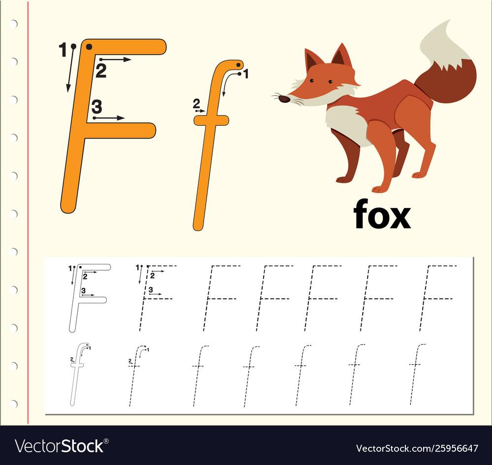 Letter F Tracing Alphabet Worksheets