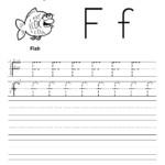 Letter F Tracing Worksheet | Writing Worksheets, Alphabet