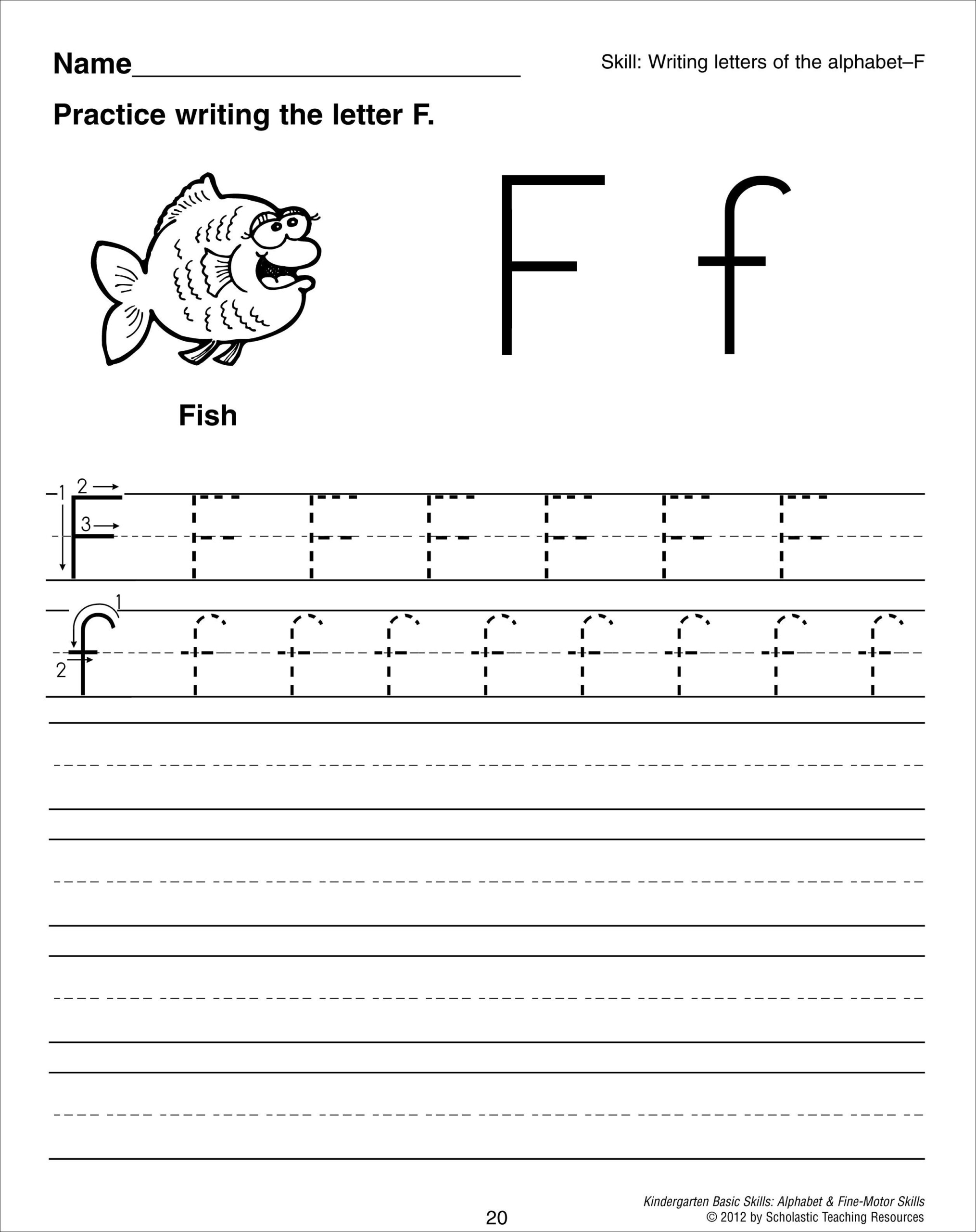 Letter F Tracing Worksheet | Writing Worksheets, Alphabet