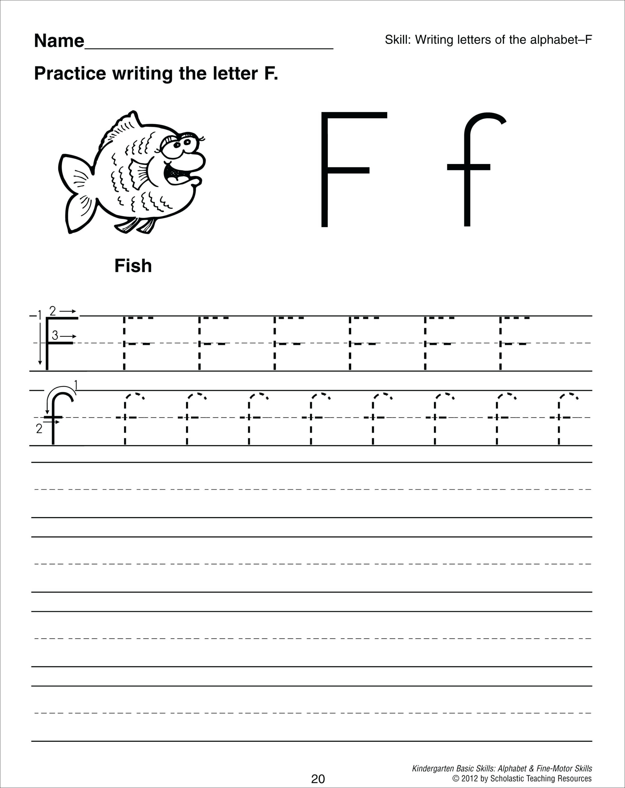 Letter F Tracing Worksheets Upper And Lowercase Letter