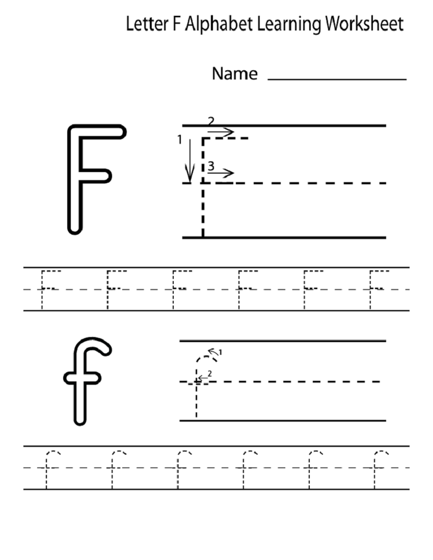 Letter F Worksheet For Preschool And Kindergarten | Activity