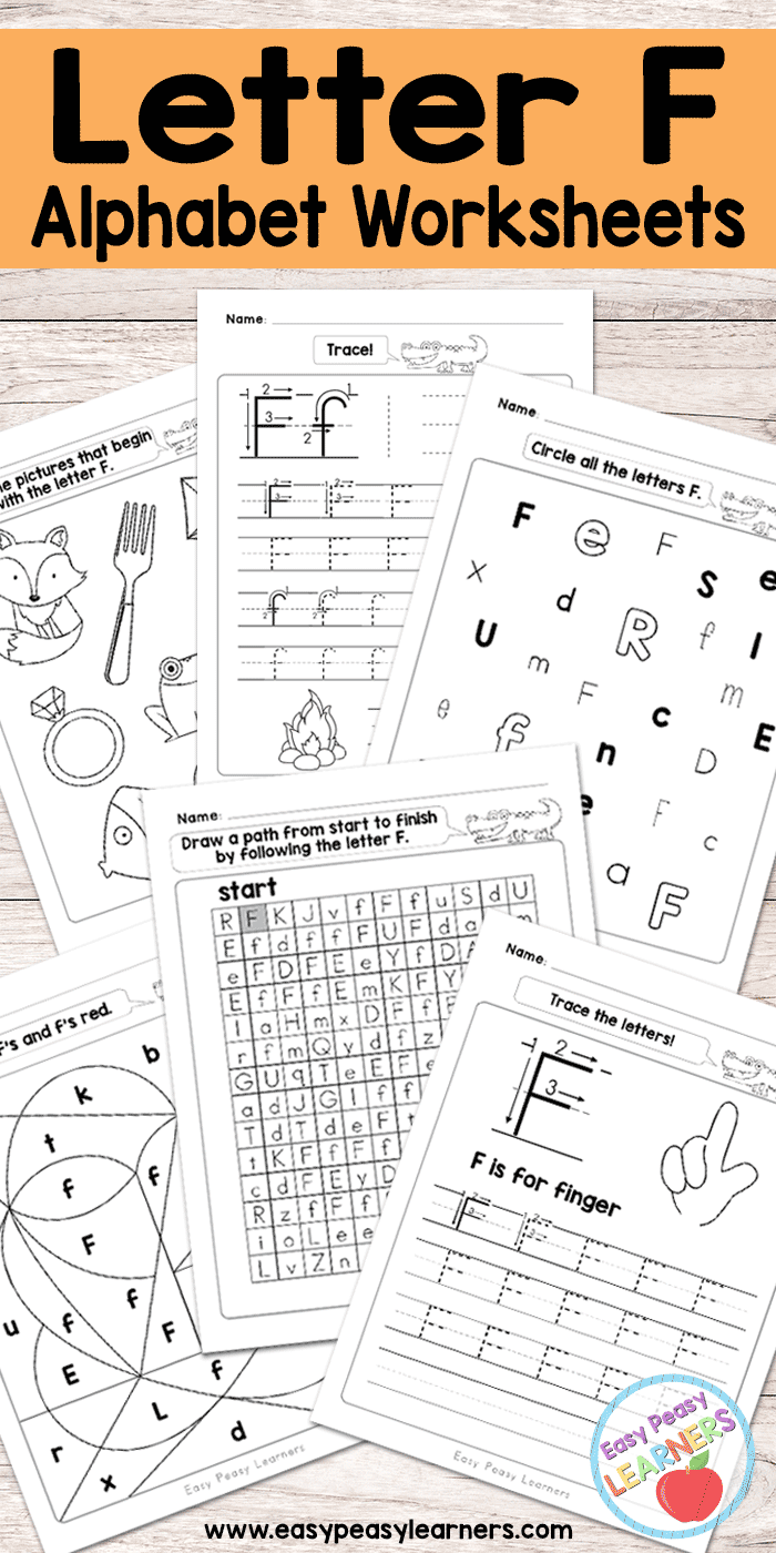 Letter F Worksheets - Alphabet Series - Easy Peasy Learners