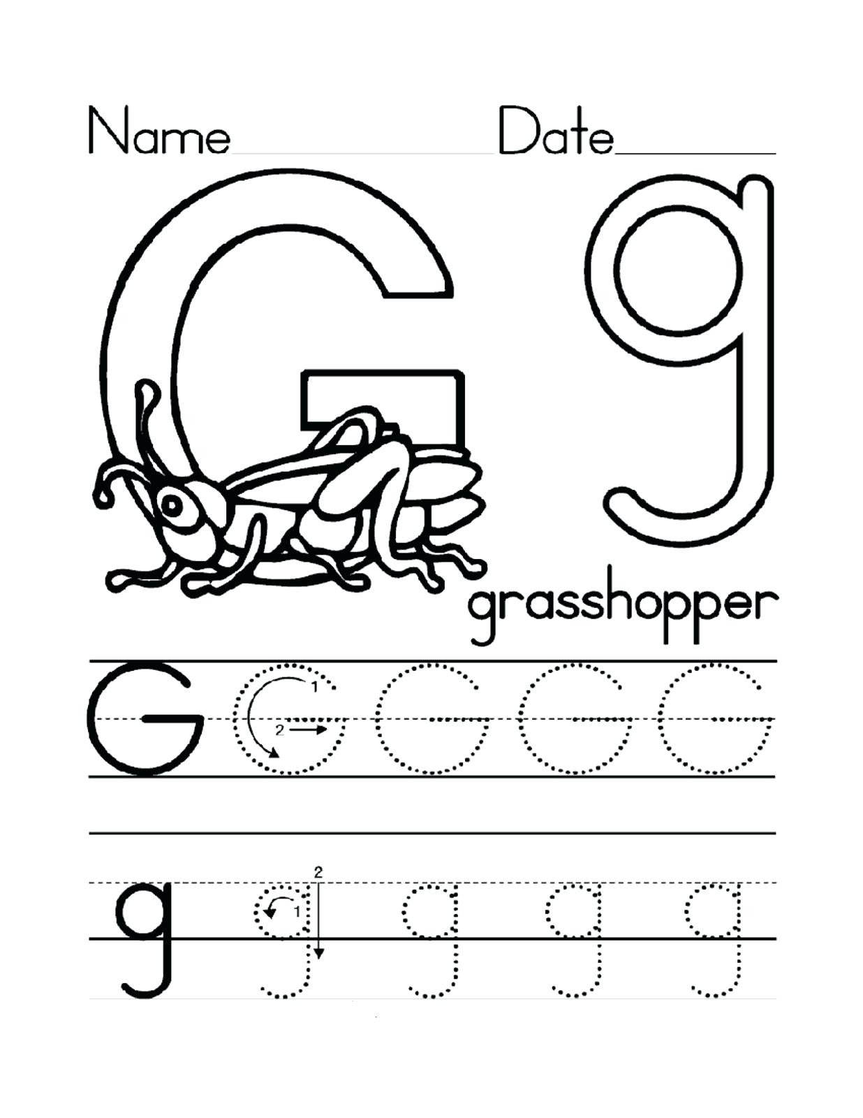 Letter G Worksheets For Preschoolers Letter G Worksheets For