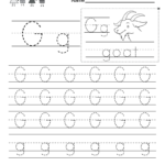 Letter G Writing Practice Worksheet - Free Kindergarten