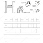 Letter H Tracing Worksheets | Letter H. Learn Handwriting