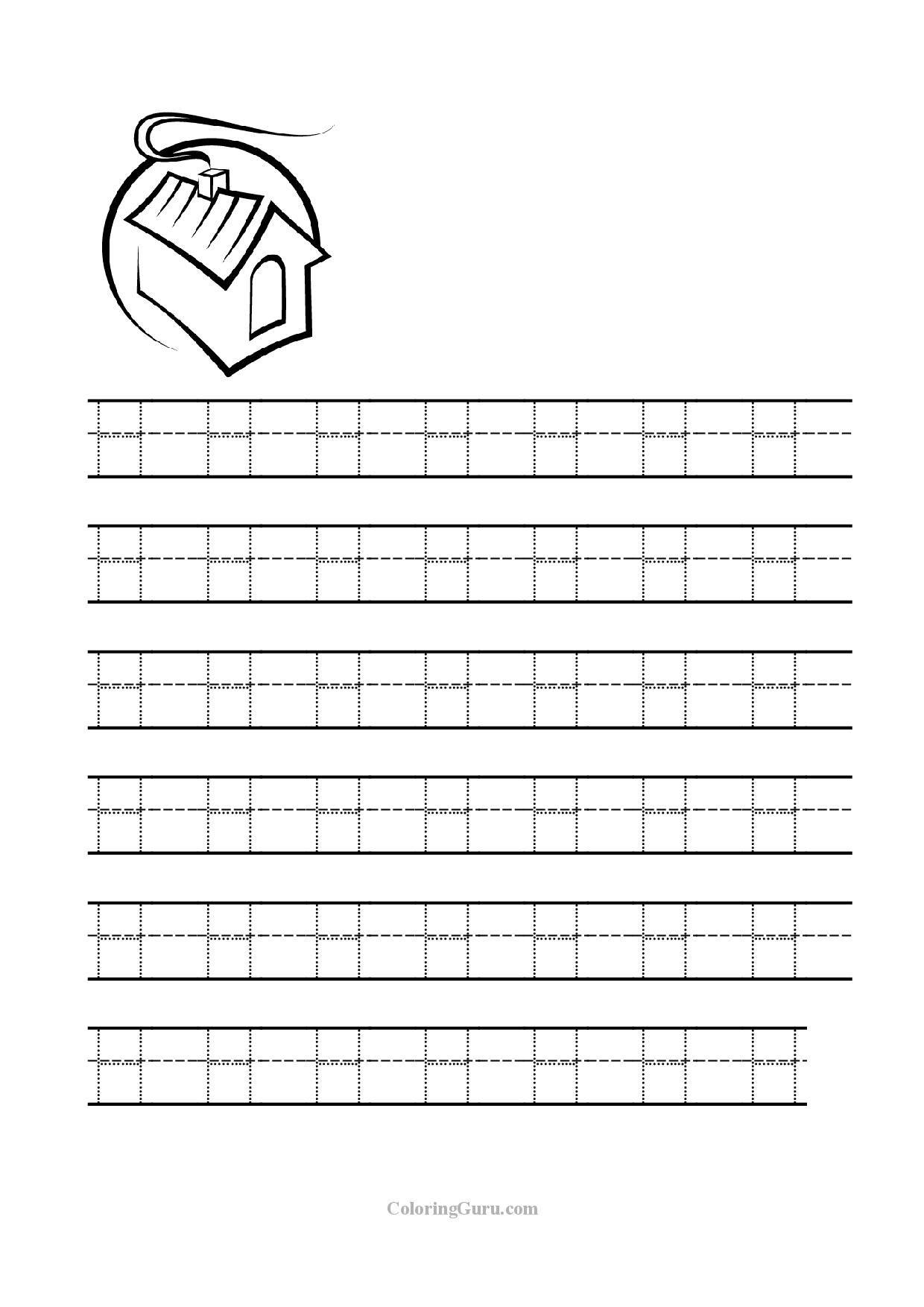 Letter H Tracing Worksheets Worksheets For All | Alphabet